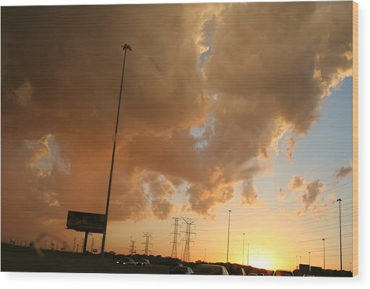 55 Sunset Wood Print by Gregory Jeffries
