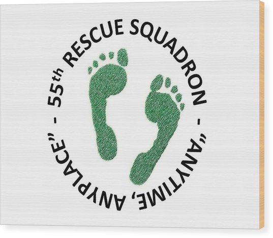 55th Rescue Squadron Wood Print