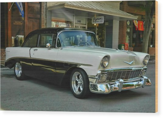 '56 Chevy Hot Rod Wood Print