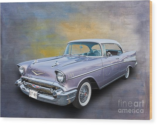 57 Chev Classic Car Wood Print