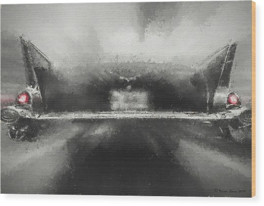57' Chevy Mood Wood Print