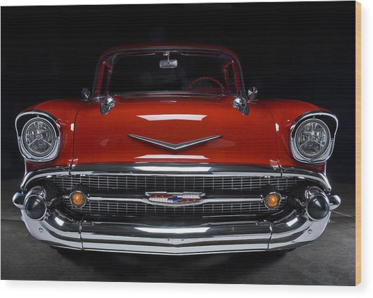 57 Chevy Wood Print
