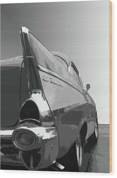 57 Chevy Verticle Wood Print