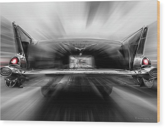 57' Taillights Wood Print