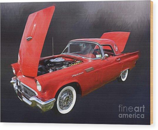 57 Thunderbird Wood Print