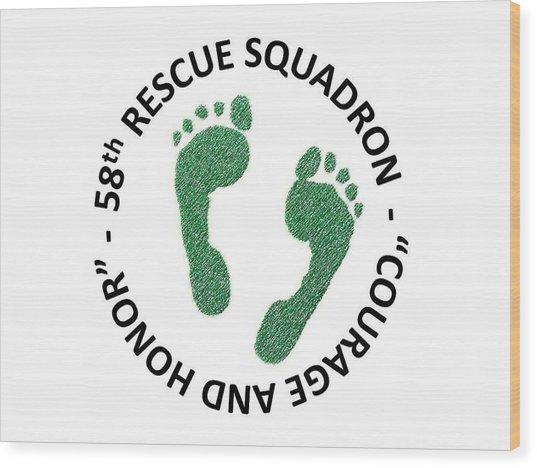 58th Rescue Squadron Wood Print