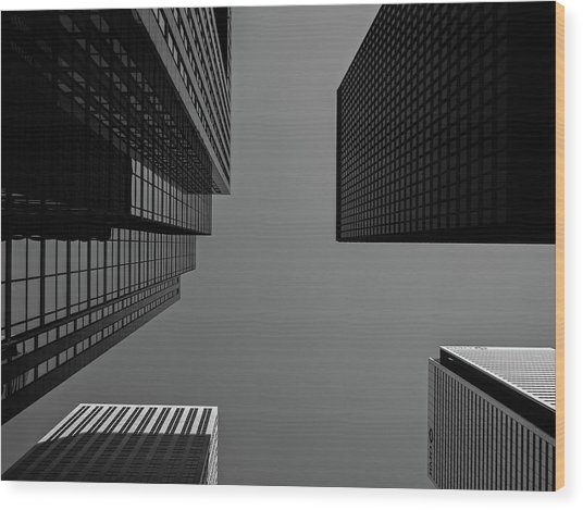 Abstract Architecture - Toronto Wood Print