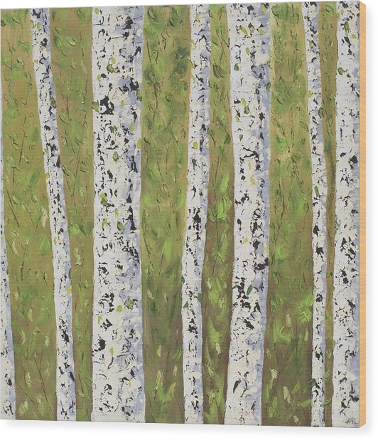 Aspen Trees Colorado Wood Print by Frederic Payet
