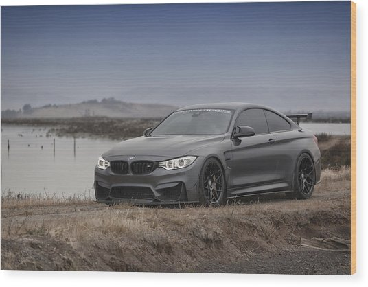 Wood Print featuring the photograph Bmw M4 by ItzKirb Photography