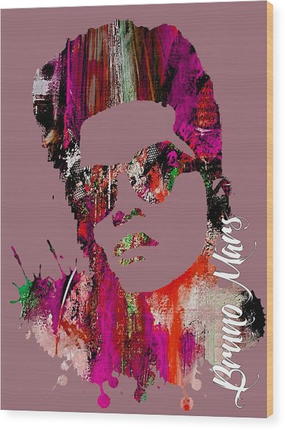 Bruno Mars Collection Wood Print