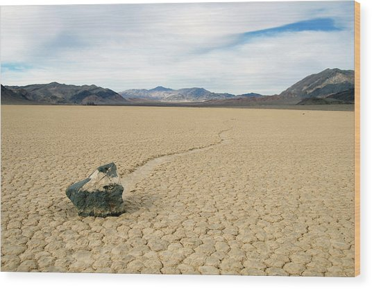 Death Valley Racetrack Wood Print