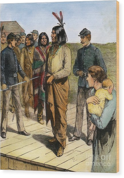 Geronimo 1829-1909.  To License For Professional Use Visit Granger.com Wood Print