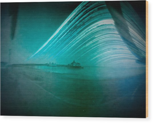 6 Month Exposure Of Eastbourne Pier Wood Print