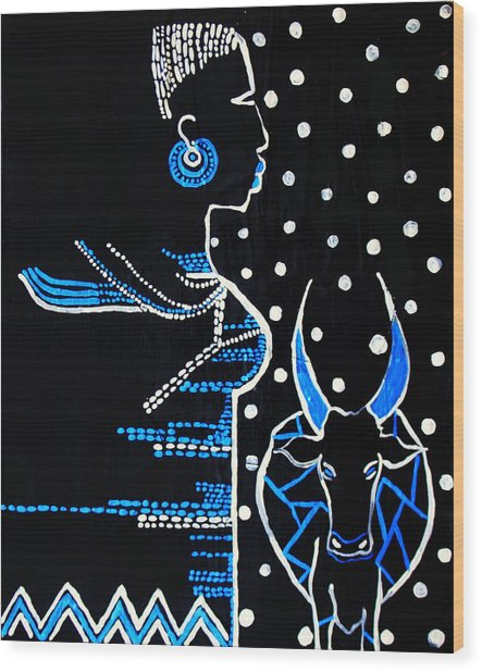 Murle Bride - South Sudan Wood Print
