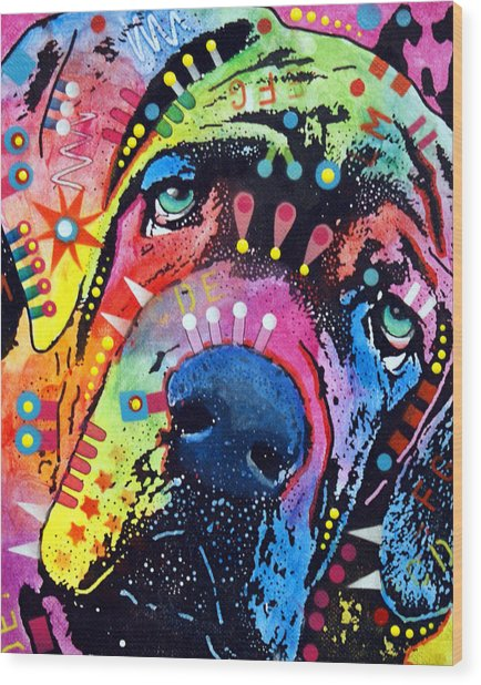 Neo Mastiff Wood Print