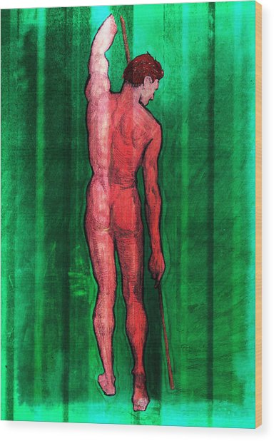 Nude Man Wood Print