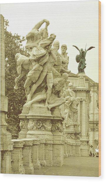 Ponte Vittorio Emanuele II Rome Wood Print by JAMART Photography