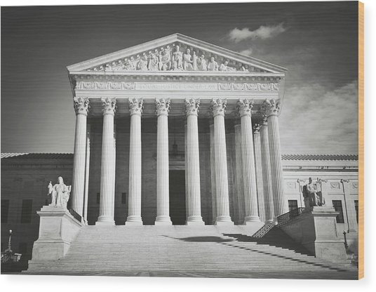 Supreme Court Building Wood Print