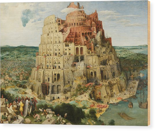 The Tower Of Babel  Wood Print