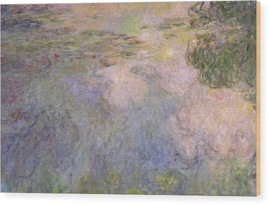 The Waterlily Pond Wood Print