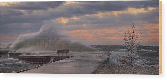 60 Mph Wood Print