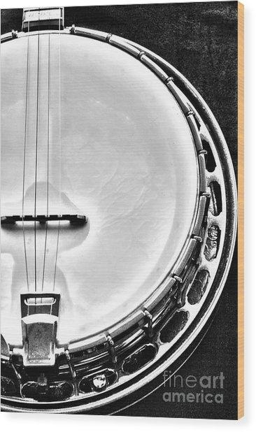 60's Gibson Banjo Wood Print