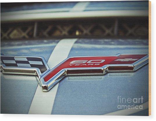 60th Anniversary Corvette Wood Print