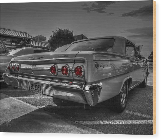 Wood Print featuring the photograph '62 Impala Ss 001 by Lance Vaughn
