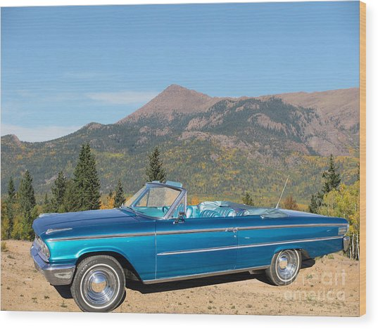 63 Ford Convertible Wood Print