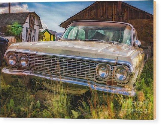 63 Impala Wood Print