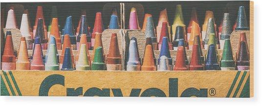 64 Colors Wood Print