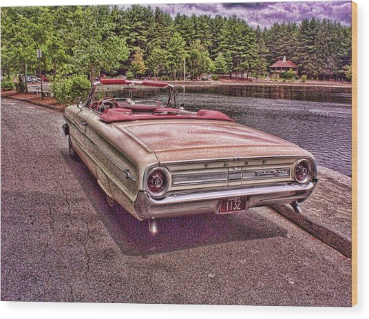 64 Ford Wood Print by Paul Godin