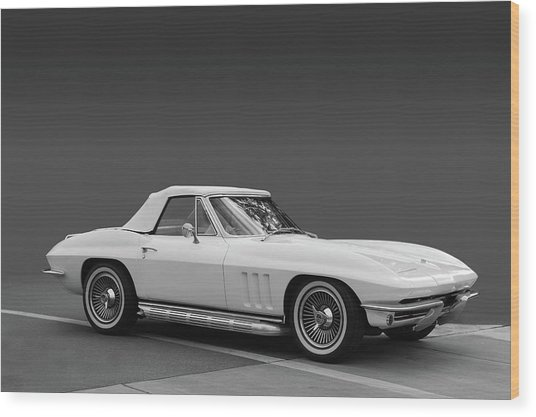65 Corvette Roadster Wood Print