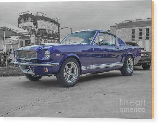 65' Mustang Wood Print