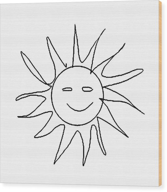 6.57.hungary-6-detail-sun-with-smile Wood Print
