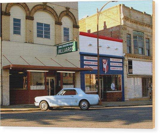 66 Mustang Down Town Wood Print by Danny Jones