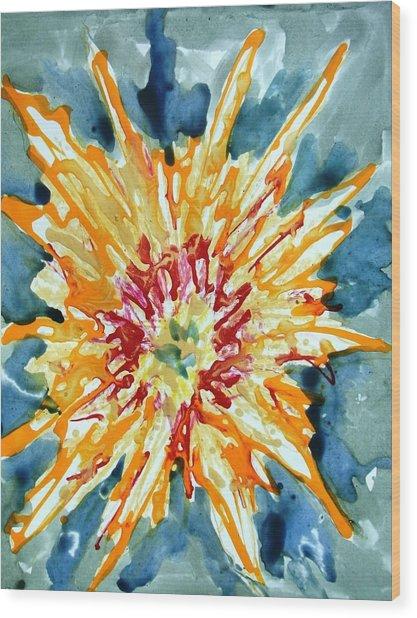 Divine Flowers Wood Print by Baljit Chadha