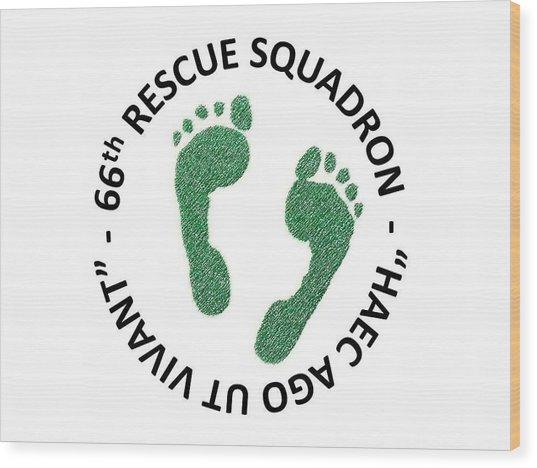 66th Rescue Squadron Wood Print