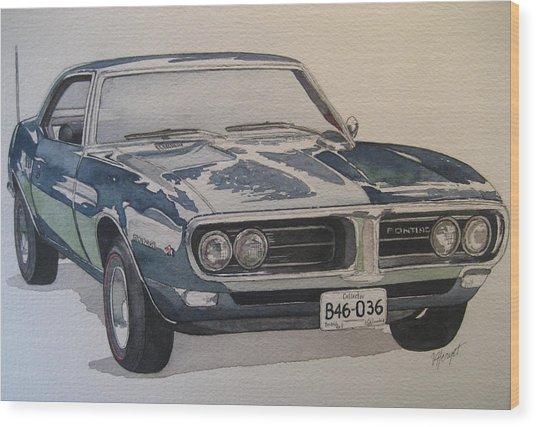 68 Firebird Sprint Wood Print by Victoria Heryet
