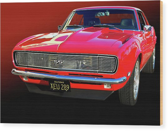 68 Ss Camaro Wood Print