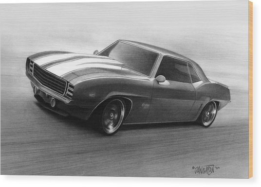 '69 Camaro Wood Print