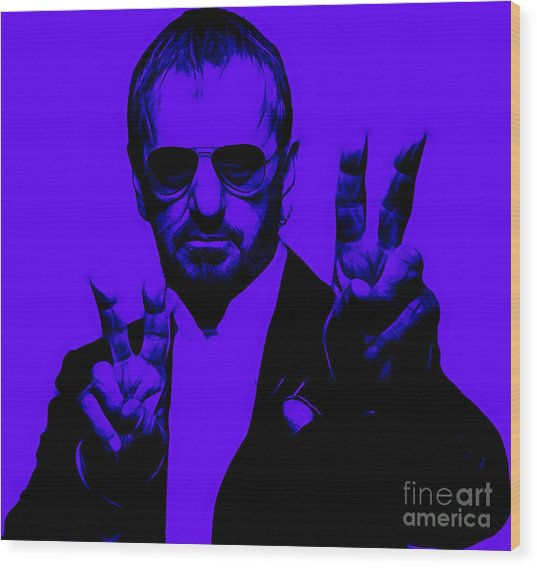 Ringo Starr Collection Wood Print by Marvin Blaine