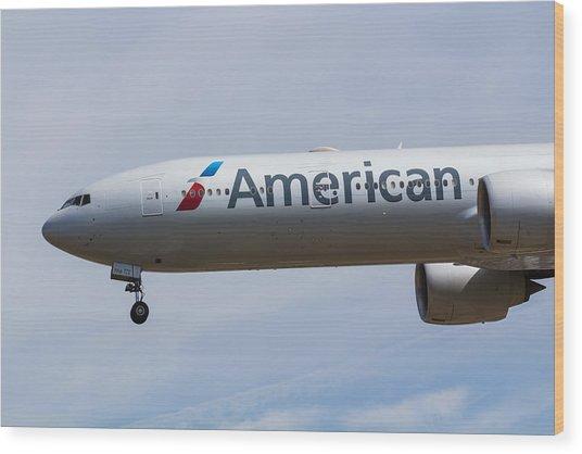American Airlines Boeing 777 Wood Print