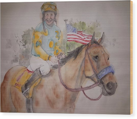 American Pharaoh Album  Wood Print by Debbi Saccomanno Chan
