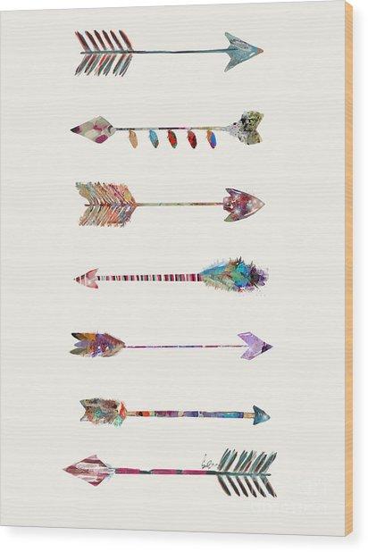 7 Arrows Wood Print