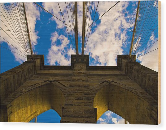 Brooklyn Bridge Wood Print by Patrick  Flynn