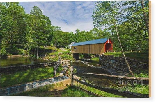Green River Covered Bridge. Wood Print