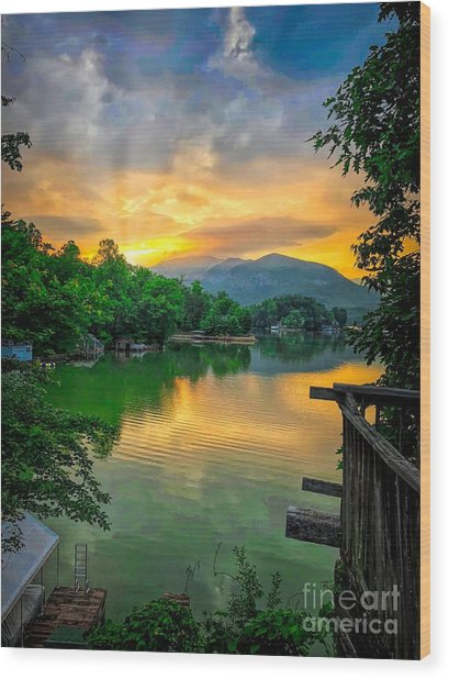 Lake Lure Wood Print