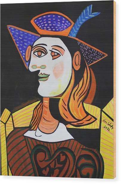 Hair Net  Picasso Wood Print