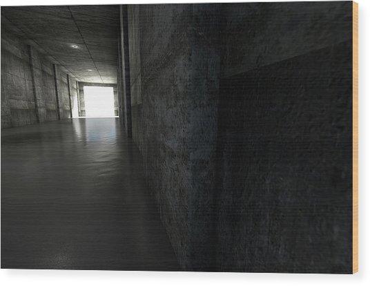 Sports Stadium Tunnel Wood Print